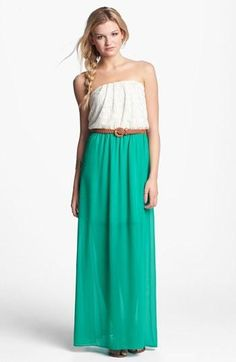 Look to love: Side braid & bandeau mint maxi