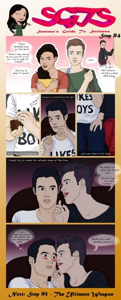 And Step #4 of SGTS - Santana's Guide To Sexiness! Blaine's sure he won't live to see whether Blackbeard survives or not if he can't kiss Kurt right now! Oh, and good boyfriends know how to share. ...