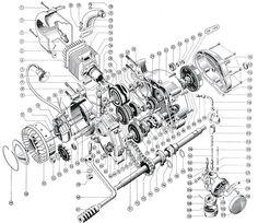 single cylinder motorcycle engine diagram motorcycle pinterest rh pinterest com bike engine wiring diagram dirt bike engine diagram
