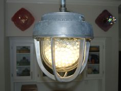 Large Crouse Hinds Industrial Pendant Light by Rustologies on Etsy