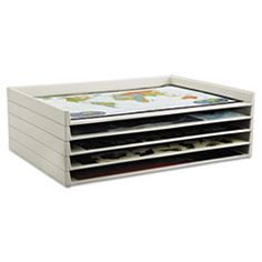 Safco® Giant Stack Flat File Trays, 45-1/2w x 34d x 3h, White, 2/Carton