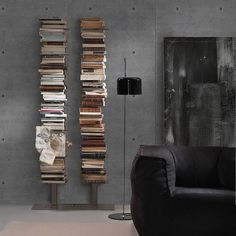 On instagram by lovethesign #homedesign #contratahotel (o) http://ift.tt/1QE94S6 time for frills. Books are all that matters! @siderio.it is a specialist in making all things beautiful out of metal. Its #Talia bookshelf manages to be as sturdy as it is slender - nearly invisible.  See more at http://ift.tt/1LmntpN  #lovethesign #liveitalian #homedecoration #instahome #love #design  #interiordesign #mobiliario #home #siderio #invisibleshelf #book #bookstagram #booklover