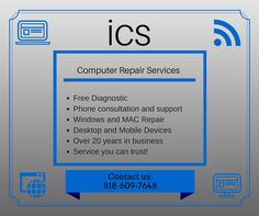 ICS providing #Remote #computer #repair & #online PC #laptop #support #services, remote pc repair tune up, virus and spyware removal without lifting a finger.