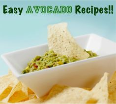 4 Easy Avocado Recipes!