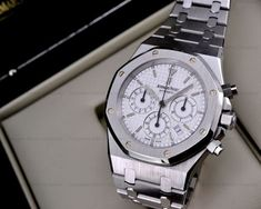 Our watches are new in box (unless stated otherwise), with serial numbers intact. Dream Watches, Cool Watches, Rolex Watches, Watches For Men, Audemars Piguet Watches, Audemars Piguet Royal Oak, Ap Royal Oak, Watch 2, Luxury Yachts