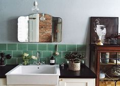 Vintage Flair im Badezimmer