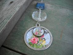Birds in Blue/Garden/Flowers/Boho/Cottage by TheOmbrePoodle