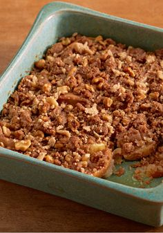 Apple Walnut Crisp – Sliced fresh apples are topped with a mixture of flour, brown sugar, cinnamon, nutmeg, butter, and walnuts—then baked into one scrumptious crisp recipe.