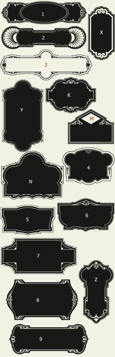 Letterhead Fonts / LHF Broadway Panels 1/ Art Deco Panels