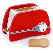 Put the toast in the slots, push the handle down and wait for the toast to pop up. This beautifully crafted wooden toaster by Viga includes two pieces of bread and realistic pop up action. Toys For Tots, Toys For Girls, Kids Toys, Children Play, Kitchen Games, Toy Kitchen, Toaster, Pop Up, Childrens Kitchens