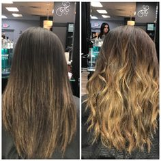 Before and After featuring @abbymay24 & @_ashleychantel #BeforeAndAfter #Ombre #Balayage #Olaplex #Pravana #CutAndColor #RedkenFlashLift #NoFilter