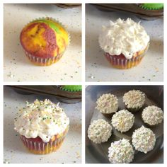 Mardi Gras Cupcakes:)