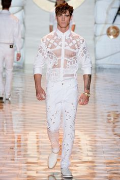 Versace Spring 2015 Menswear - Collection - Gallery - Style.com