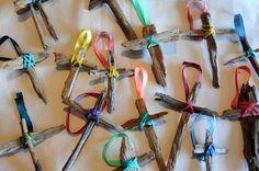 crosses made of sticks | Trail of Inspiration: Homemade Christmas Tree Ornaments