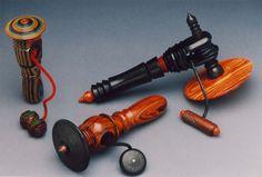 Three large pull tops by Jon Sauer. Lathe Projects, Wood Turning Projects, Wood Projects, Woodworking Projects, Wooden Gifts, Wooden Toys, Spinning Top, Wood Lathe, Fidget Toys