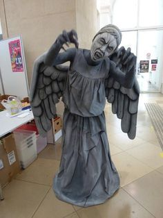 Weeping Angel (Doctor Who) cosplay....run for you life! (Then again, they will always be faster than you, say gooodbye)