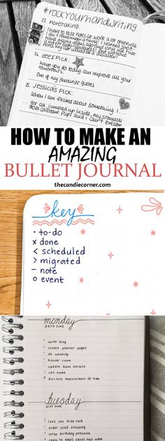 Super easy instructions on how to make your own bullet journal to keep organized!