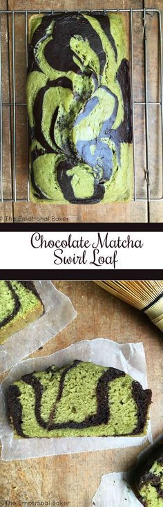 Chocolate Matcha Swirl Loaf