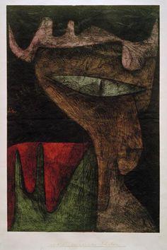 Paul Klee - Daemonisches Fraeulein, 1937, 80.                                                                                                                                                                                 More