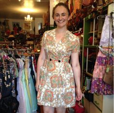 Rosie looks so cute in this 50's dress from the shop!