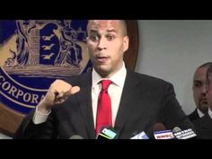 Cory Booker. Mayor of Newark, New Jersey. Responds to question about the issue of marriage equality, emphatically stating that civil rights should never be subject to a popular vote.
