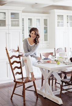 1000 ideas about white farmhouse table on pinterest for Jillian harris kitchen designs
