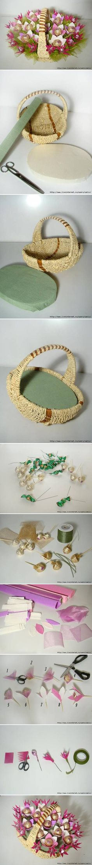 DIY Chocolate Flowers Basket | iCreativeIdeas.com Like Us on Facebook ==> https://www.facebook.com/icreativeideas