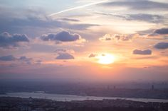 Sun and Sky - beautiful sunset seen from Camlıca Hill in Istanbul