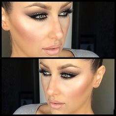 #ShareIG Tutorial for this look will be up on my channel Tuesday! I hope everyone has a good weekend! I used MAC Pearl (cream color base) as my highlight, contoured with @anastasiabeverlyhills contour kit, lashes are @House of Lashes noir fairy and my shadows are from the Champagne Palette from StarLooks. :) #chrisspy #anastasiabeverlyhills #houseoflashes #motd