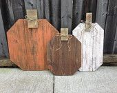 Autum Fall Set of 3 Pumpkins made from Pallet Wood Reclaimed Repurposed