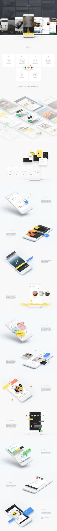 """다음 @Behance 프로젝트 확인: """"MNML / Free iOS UI Kit"""" https://www.behance.net/gallery/54388237/MNML-Free-iOS-UI-Kit"""