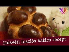 Húsvéti kalács recept   Igazi foszlós húsvéti kalács készítése, fonása - YouTube Muffin, Youtube, Breakfast, Morning Coffee, Muffins, Cupcakes, Youtubers, Youtube Movies