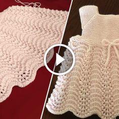Diy Crafts - DIY & crafts projects, contents and more - Diy Crafts Knitting Orgu Yelek Sonbahar Cicekler 658862620469875726 P Baby Knitting Patterns, Knitting For Kids, Easy Knitting, Loom Knitting, Crochet Patterns, Diy Crafts Dress, Diy Dress, Diy Crafts Knitting, Knit Baby Dress