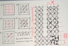 Versa - by Larua Harms, CZT (iamthedivaczt.blogspot.com - Certified Zentangle Teacher (CZT®): March 2011)