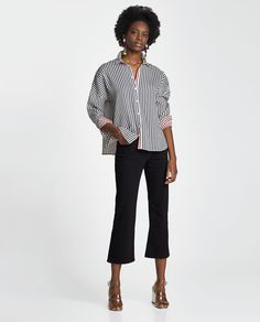 Image 1 of REVERSIBLE STRIPED SHIRT from Zara