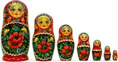 A Matryoshka nesting doll is a set of typically seven wooden dolls of decreasing sizes that all fit inside of each other, one by one. Description from legomenon.com. I searched for this on bing.com/images