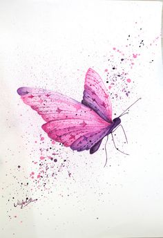 EatSleepDraw is an online art gallery where we post original content submitted by contributors across the globe. Butterfly Painting, Butterfly Watercolor, Butterfly Wallpaper, Blue Butterfly, Watercolor Cards, Watercolor Paintings, Butterfly Sketch, Art Papillon, Arte Pop