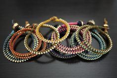 DIY leather wrap bracelets http://www.youtube.com/watch?v=edQ0Vodlmqg&feature=player_embedded