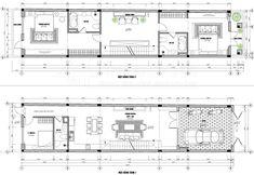 Thiết kế nhà phố 4 tầng diện tích 5,1×22m phong cách Tân cổ điển tại Hưng Yên Floor Plans, Floor Plan Drawing, House Floor Plans