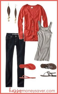 Fashion boards on a budget: lots of outfit ideas using clothes from places like Old Navy, Target, Kohls, etc.