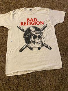 Bad religion punk thrash band shirt on Mercari Honky Tonk, Old Shirts, Skinhead, Hard Rock, Religion, Punk, Adventure, Mens Tops, T Shirt
