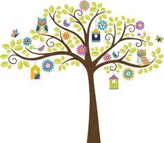 Art Kit Owl Tree Wall Decal