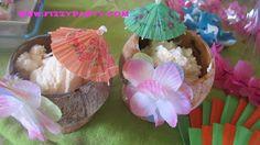 Pineapple cocobut ice cream. 4th Annual Tiki party #fizzyparty #tiki #luau #icecream
