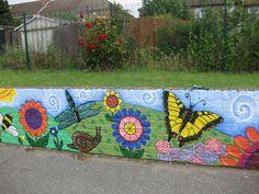 Nightingale Primary School: Minibeast playground mural by Pixie Art Workshops, via Flickr