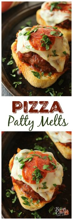 Pizza Patty Melts - Diary of A Recipe Collector