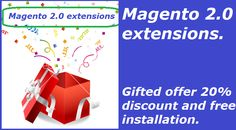 Top #magento 2.0 extensions with 20% offer and free installation at http://mage-extensions-themes.com/magento-extensions.html. Use coupon SPL20 in cart.