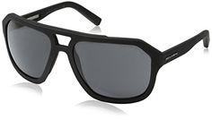 D&G Dolce & Gabbana Men's 0DG2146 Square Sunglasses, Grey Rubber Light