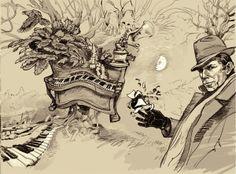 live Music by Yury Laptev, via Behance Drunken Piano, Tom Waits