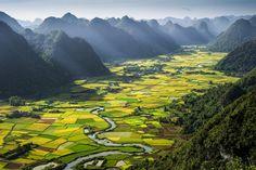16 hermosos paisajes que verías si fueras un pájaro - Valle Bac Son, Vietnam