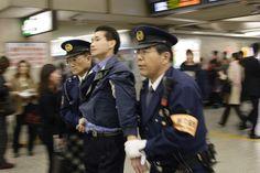 Arrest at shinjuku station Japanese Men, Cops, Captain Hat, Around The Worlds